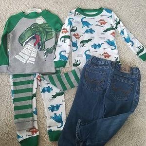 2t Jeans & Dino Pajamas